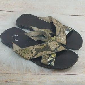 Men's Messori leather strap slip on sandals sz 11